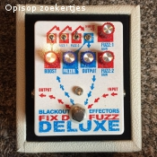 Fix D Fuzz Deluxe Usa made Black out Effectors Fuzz