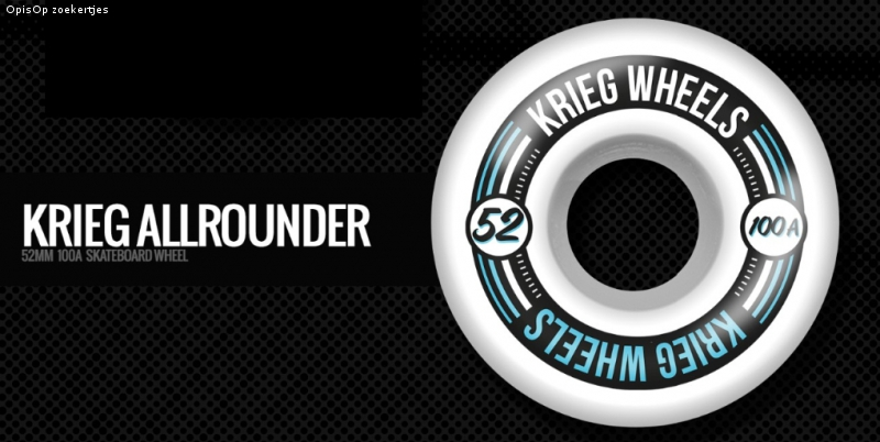 "Krieg ""ANCHOR"" & ""ALLROUNDER"" skateboard wheels"